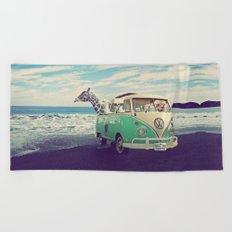 NEVER STOP EXPLORING THE BEACH Beach Towel