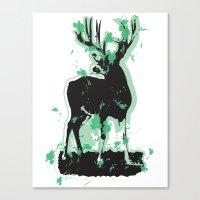 Splatter Deer Canvas Print