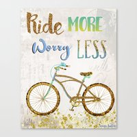 Ride More Worry Less Canvas Print