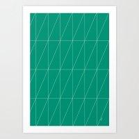 Emerald Triangles By Fri… Art Print