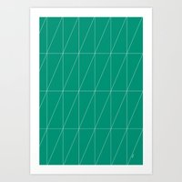 Emerald Triangles By Fri… Art Print