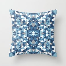 Abstract Collide Blues Throw Pillow