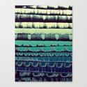 Tissue - Green Yellow Canvas Print