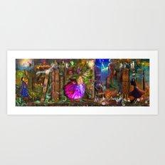 The Princess Book Shelf Art Print