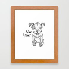 Dog Breeds: Blue Heeler/Australian Cattle Dog Framed Art Print