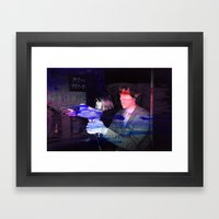 Jurassic Arcade Framed Art Print