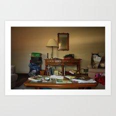 Friend's living room Art Print