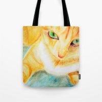 Mango Kitty Tote Bag