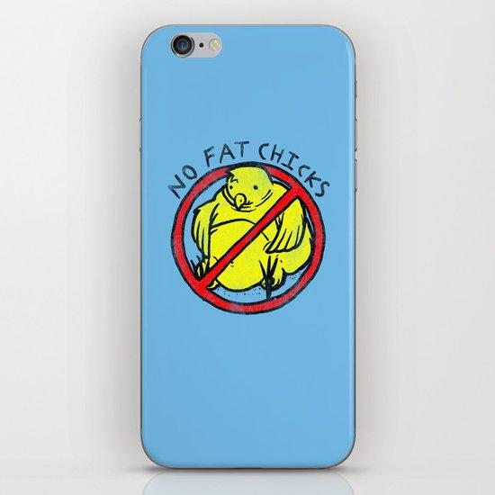 No Fat Chicks iPhone & iPod Skin