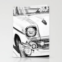Vintage Car Black And Wh… Stationery Cards
