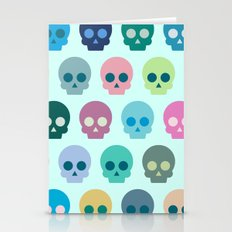 Colorful Skull Cute Pattern Stationery Cards
