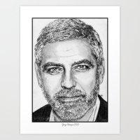 George Clooney In 2009 Art Print