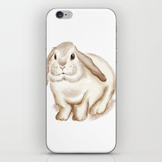 Watercolor Bunny iPhone & iPod Skin