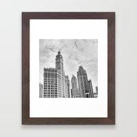 Chicago Iconic Wrigley Building Framed Art Print