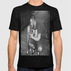 lou and daddy Mens Fitted Tee Tri-Black SMALL