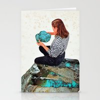 turquoise Stationery Cards featuring TURQUOISE by Beth Hoeckel