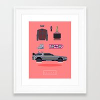 Welcome to 2015 - Back to the future Framed Art Print