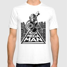 Megaman. In the year 20xx White SMALL Mens Fitted Tee