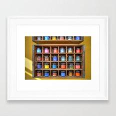 Pigments Framed Art Print