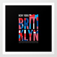 Brooklyn Bridge Remix // www.pencilmeinstationery.com Art Print