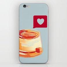 Caramel Heart Flan iPhone & iPod Skin