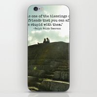 Stupidity and Old Friends  iPhone & iPod Skin