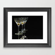 Three Martini's And Thre… Framed Art Print