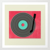 MUSIC TO MY EARS Art Print
