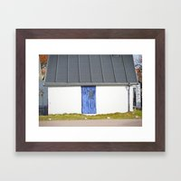 Blue Mölle Door Framed Art Print