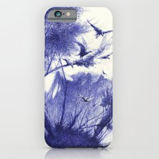 blaue Vögel iPhone 6 Slim Case
