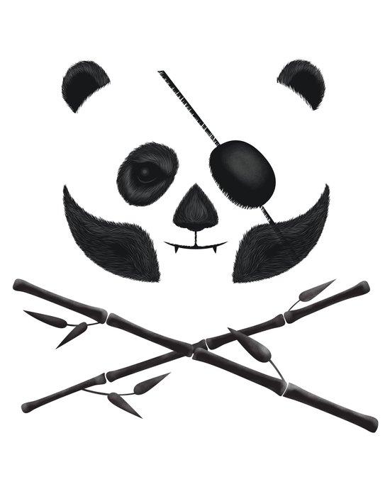 Panda Pirate! Art Print