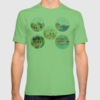 Campsite Selection Mens Fitted Tee Grass SMALL