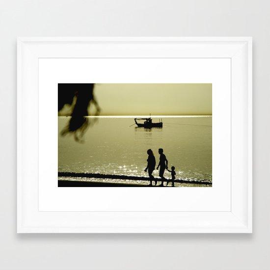 Morning walk Framed Art Print