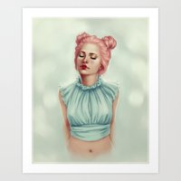 Doll heart Art Print