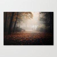 Poznan In Fog Canvas Print