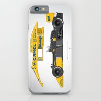Outline Series N.º5, Ayrton Senna, Lotus 99T-Honda, 1987 iPhone 6 Slim Case