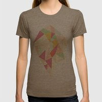 Facet I - vector Womens Fitted Tee Tri-Coffee SMALL