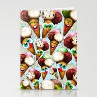 Ice Cream Cones Cartoon Pattern Stationery Cards