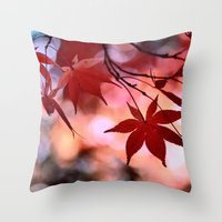 Maple Dance Throw Pillow