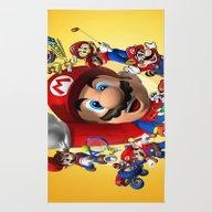 Rug featuring Super Mario  , Super Mar… by Ira Gora