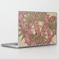 Laptop & iPad Skin featuring The Snake by Marica Zottino