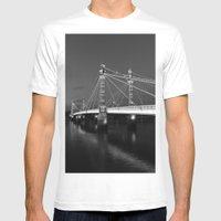Albert Bridge London  Mens Fitted Tee White SMALL