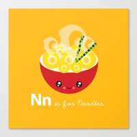N Is For Noodles Canvas Print