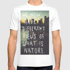 Different Views SMALL White Mens Fitted Tee