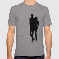 Double Oh.... Mens Fitted Tee Athletic Grey SMALL