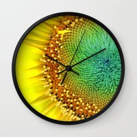 Sunflower from Seed Wall Clock