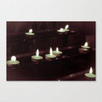 Split Toning Candels Canvas Print