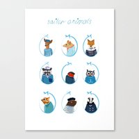 Sailor Animals Canvas Print