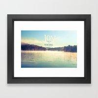 Joy Comes In The Morning Framed Art Print
