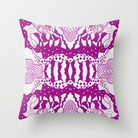 Psychedelic Adoette Throw Pillow